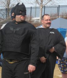 Is that Pastor John in the Batman cosume?