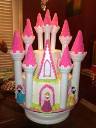 Pink Princess Castle Cake