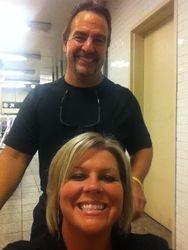 Dad pushing me threw the subway