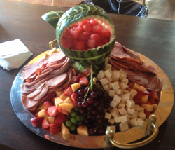 Meat, Cheese and Fruit
