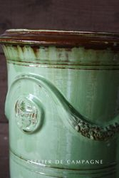 #29/186 FRENCH ANDUZR TALL GREEN PLANTERS  DETAIL