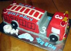 Little Firetruck Cake