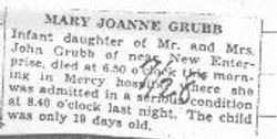 Grubb, Mary J. 1938