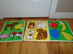 PlaySkool Vintage Baby Puzzles- 3 - $15