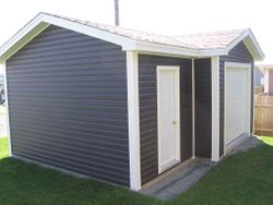 14' x 20' Deluxe Garage with a 2' x 12' Offset