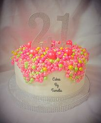 aka pink and green pearls  21st birthday p