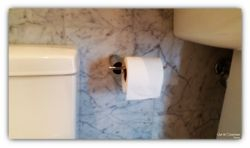 Bathroom paper holder installation on Marble wall