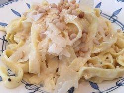 Fettuccine Alfredo with Pine Nuts