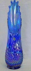 "Fenton16"" hobnail swung vase - blue"