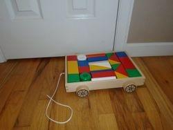 Ikea Wood Building Blocks w/ Wagon - $10