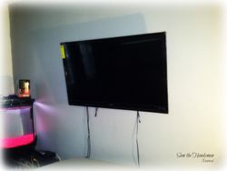 "50"" Flat TV Installed"