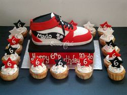 Red and Black Star Cupcakes