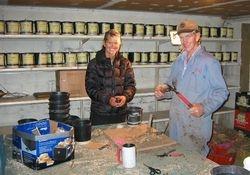Natalie & Walt at work on Natalie's dahlias