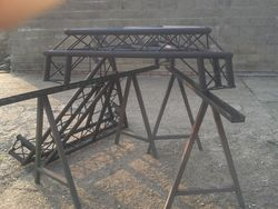 8 meter high speaker tower brackets being made