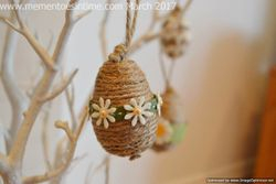Twine Covered Eggs
