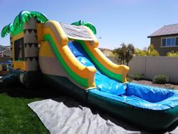 Tropical Mega Combo Jumper with Waterslide