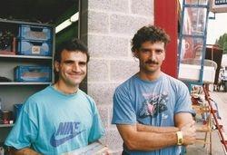 Miguel et Mario à Spa en 1992