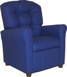 #400 Child Recliner  - Solid Blue cotton