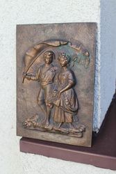 Bronzinis bareljefas Vaikai. Kaina 21 Eur.