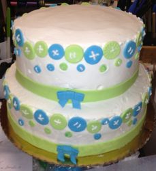 Baby Shower Cake(buttons)