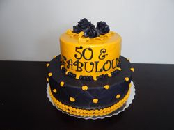 50 and fabulous cake