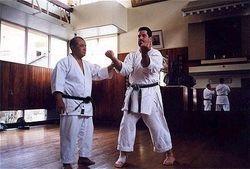 Miyazato Sensei instructing Sensei Morales 1999