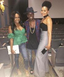 J Denelle, Dallas and Demetria McKinney attends 'Bad Dad Rehab' Atlanta screening at Midtown Art Cinema Theatre