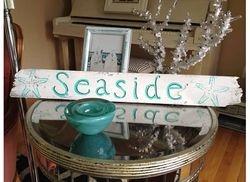 Seaside sign w/ starfish