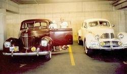 In the parking garage