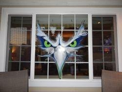 Seahawks Window Mural for Keri & Chuck!