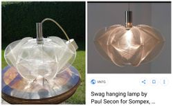 Swag hanging lamp by Paul Secon for Sompex, originalas, 1960 m. Kaina 258