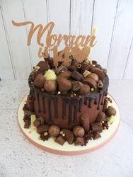 Morgan's 14th Birthday Chocolate Drip Cake