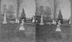 Stereo view within Cortland Rural Cemetery (circa 1870s)
