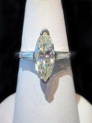 1.68ct marquis diamond ring