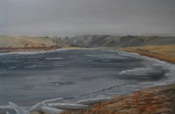 "South Saskatchewan River (20 by 30"" oil on canvas)"