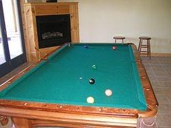 Basement pool table