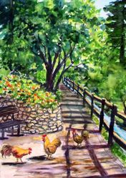 Arroyo Grande Creek with Chickens