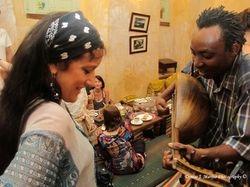Tamalyn dances to Matona's oud playing