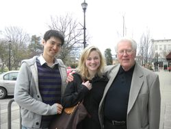 Visiting my former teacher, Milan Vitek, in Oberlin