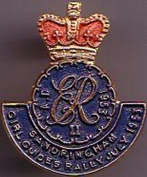 Sandringham Guide Rally Badge July 1937