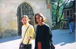 Nika & Vera in Esslingen, Germany, 1995.