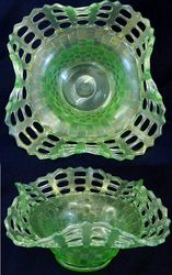 Open Edge basket, three row, square shape, ice green