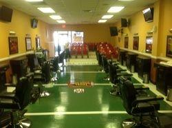 Barber shop after