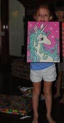 Sammie with 'Unicorn'