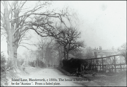 Island Lane, Handsworth. c1880.