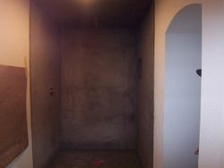 Floated shower walls & ceiling