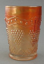 Lattice and Grape tumbler, marigold
