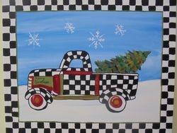 Checkered Christmas Truck