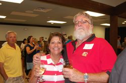 Pam Smith Krueger and Santa Claus--I mean Jim Lucas