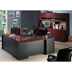 Office Desk-Credenza-Hutch